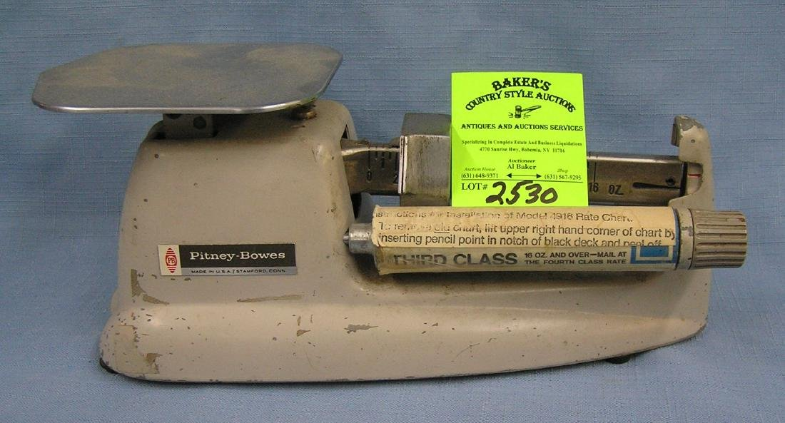 Early Pitney Bowes postal scale