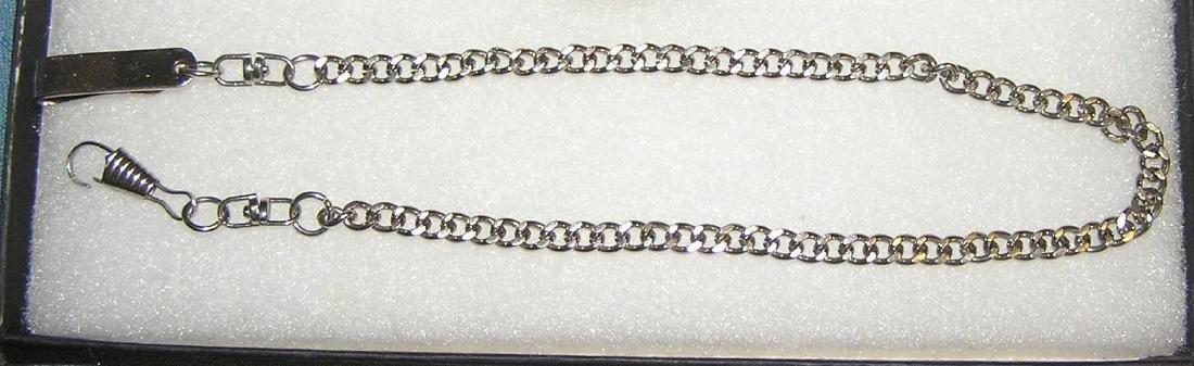 Vintage chromed over brass pocket watch chain