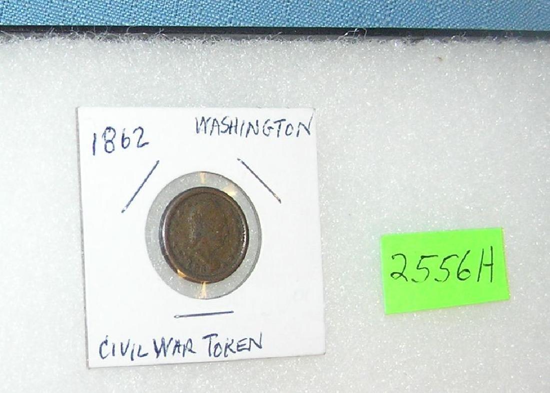 1862 Washington Civil War Union Army token