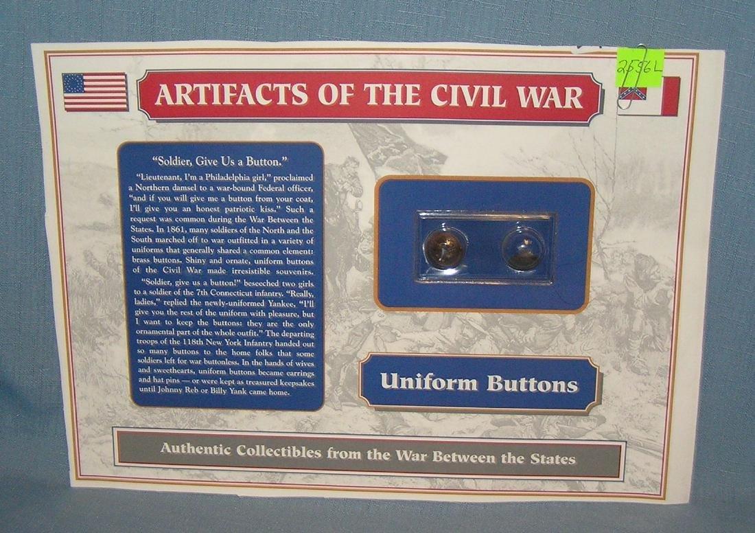 Pair of Civil War Union uniform buttons