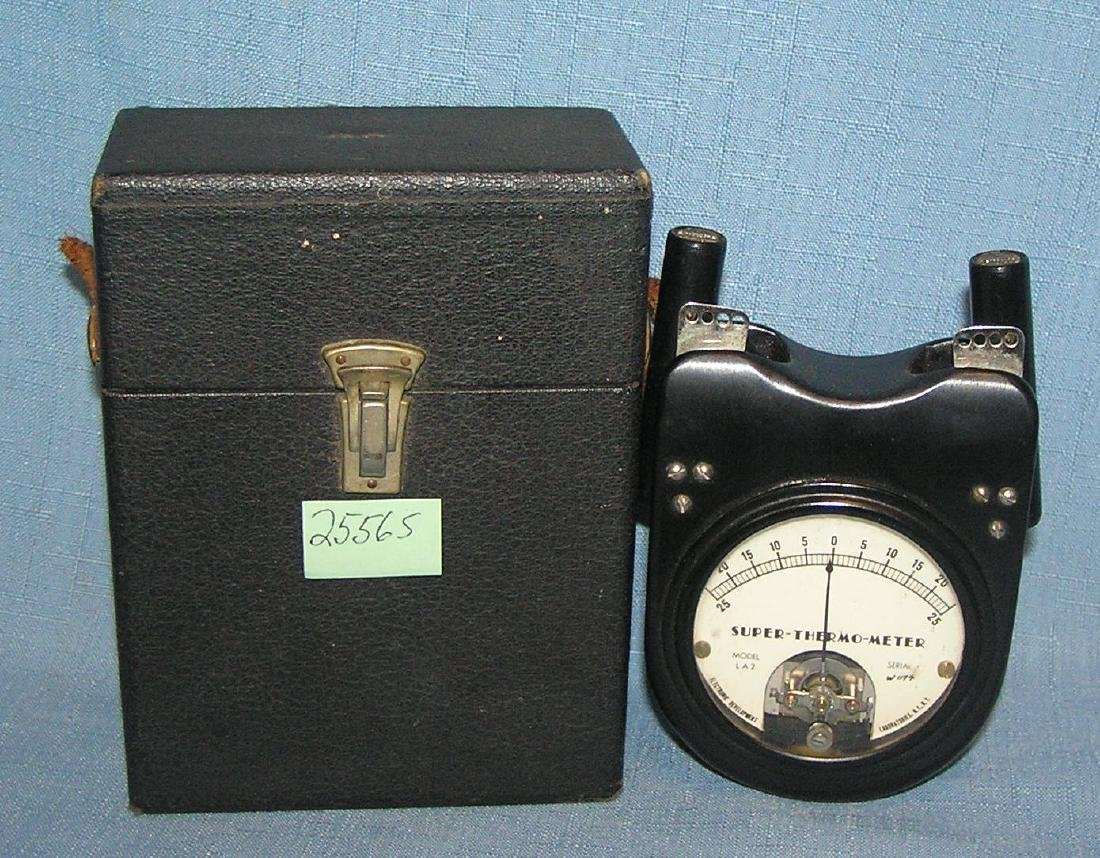 Antique Bakelite Super Thermal Meter