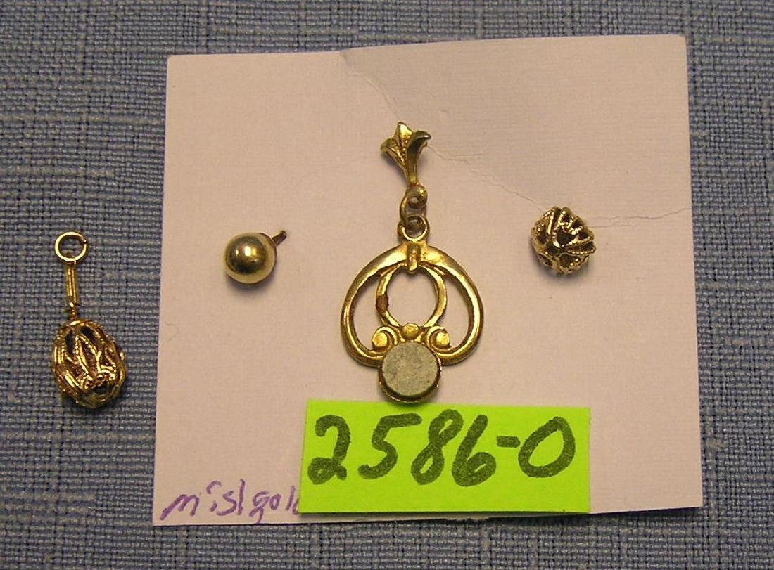 Group of misc. gold and gold plated earrings