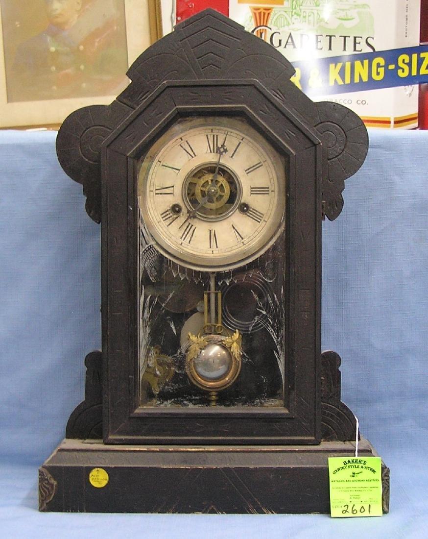 Antique fire department presentation clock