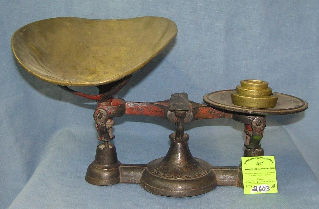 Antique country store cast iron scale