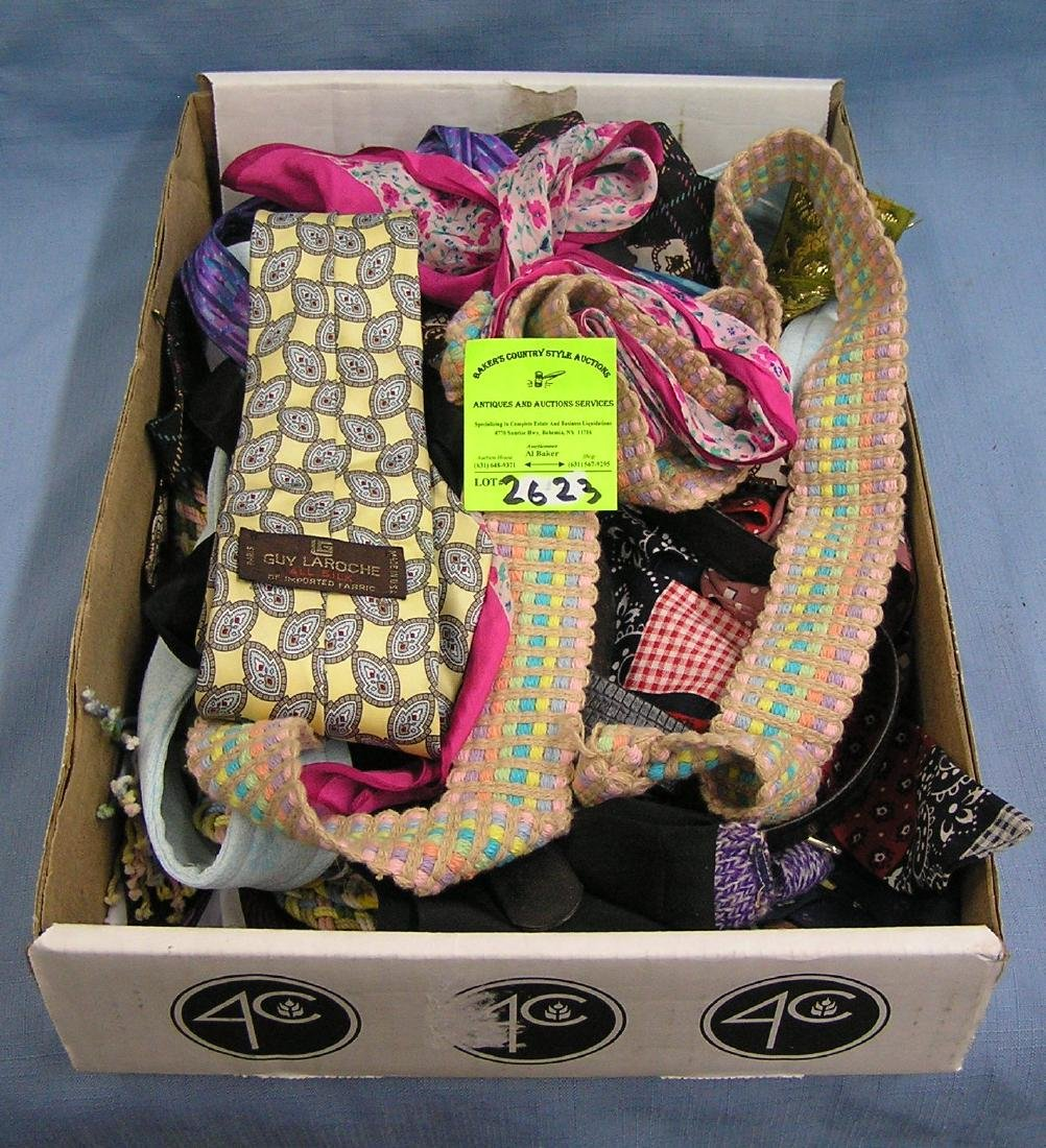 Box full of quality belts and accessories