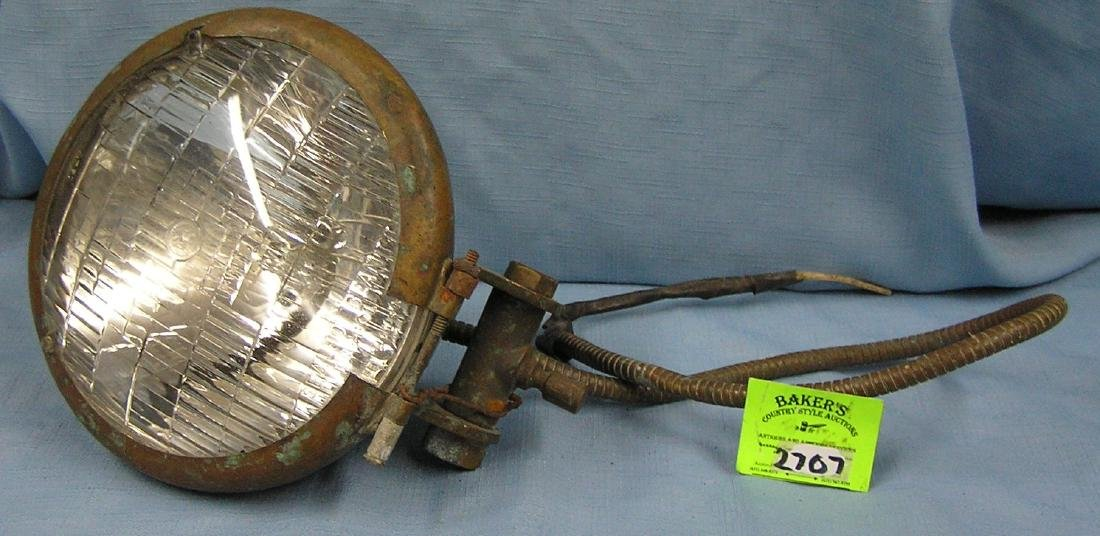Early automobile head light