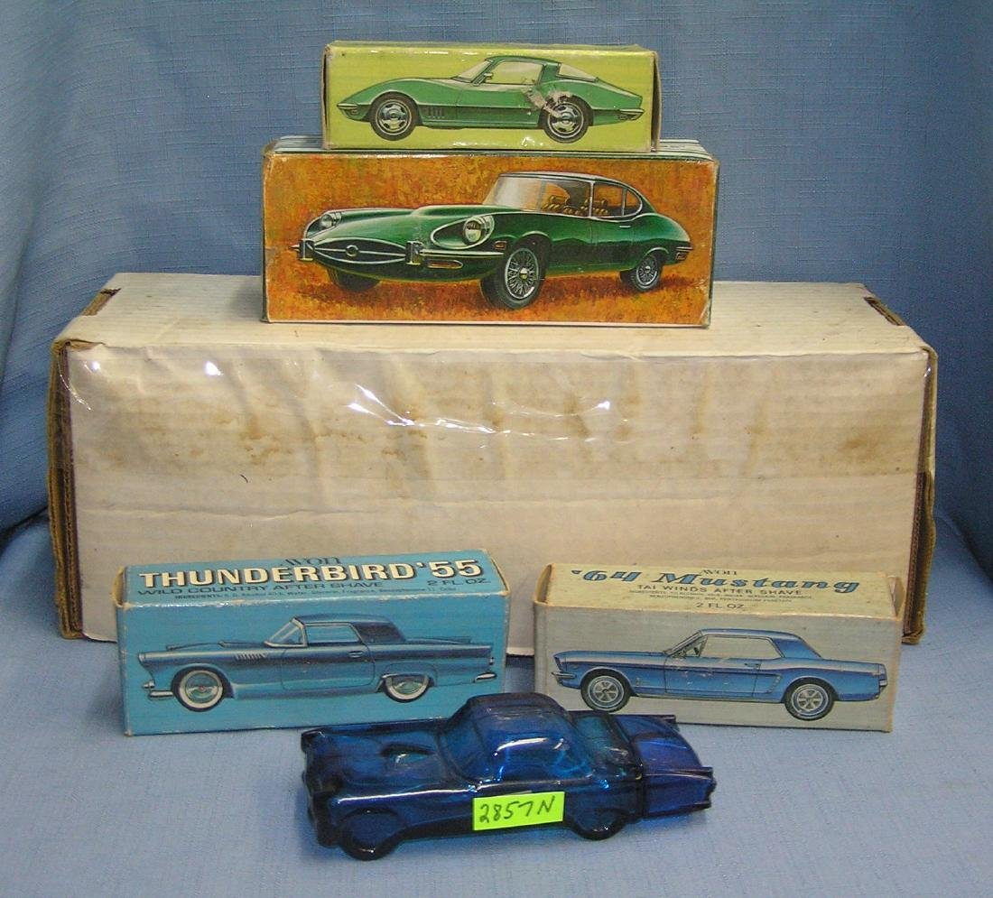 Collection of vintage Avon classic automobiles