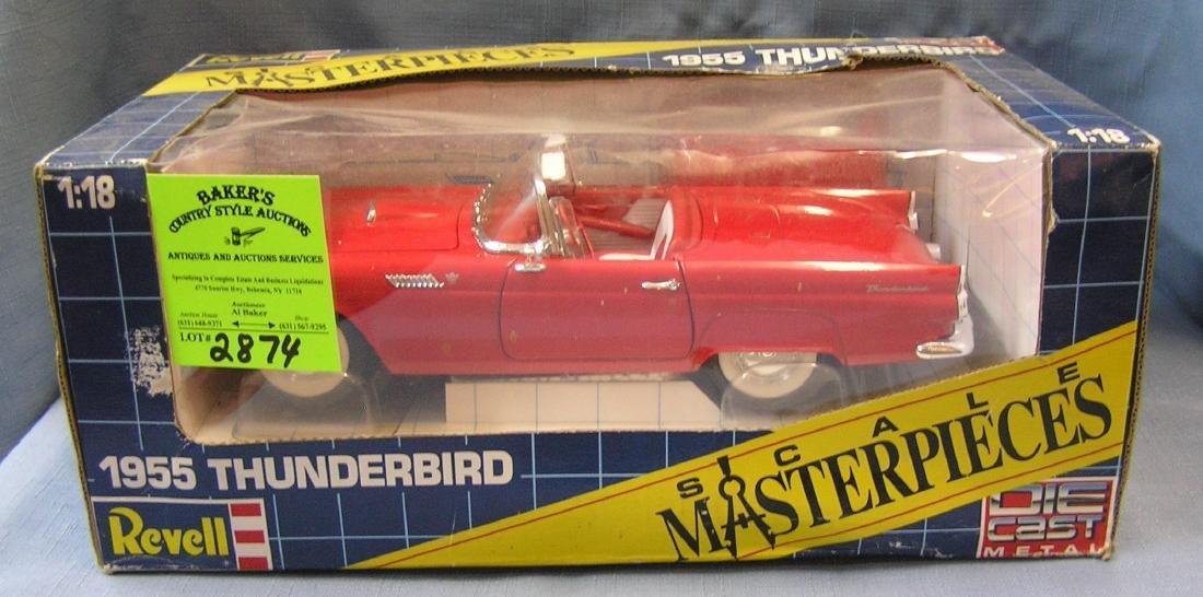 Vintage 1955 thunderbird convertible car