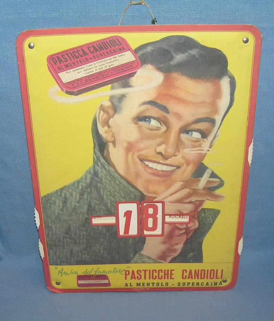 Cigarette advertising calendar for Ital. cigarettes