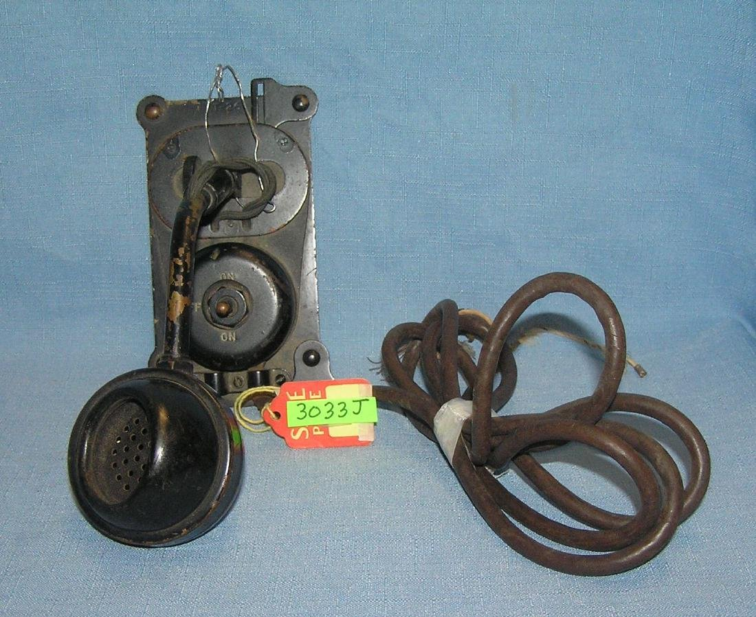 Early wall mount telephone early 1900's