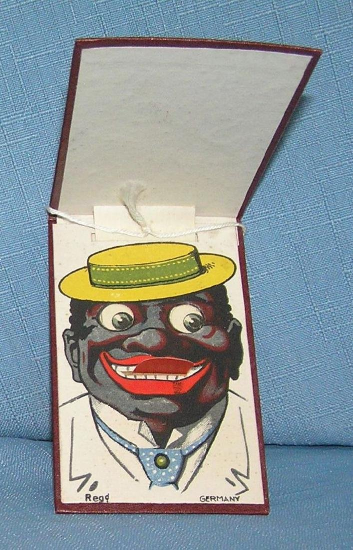 German made Black Americana minstril novelty book
