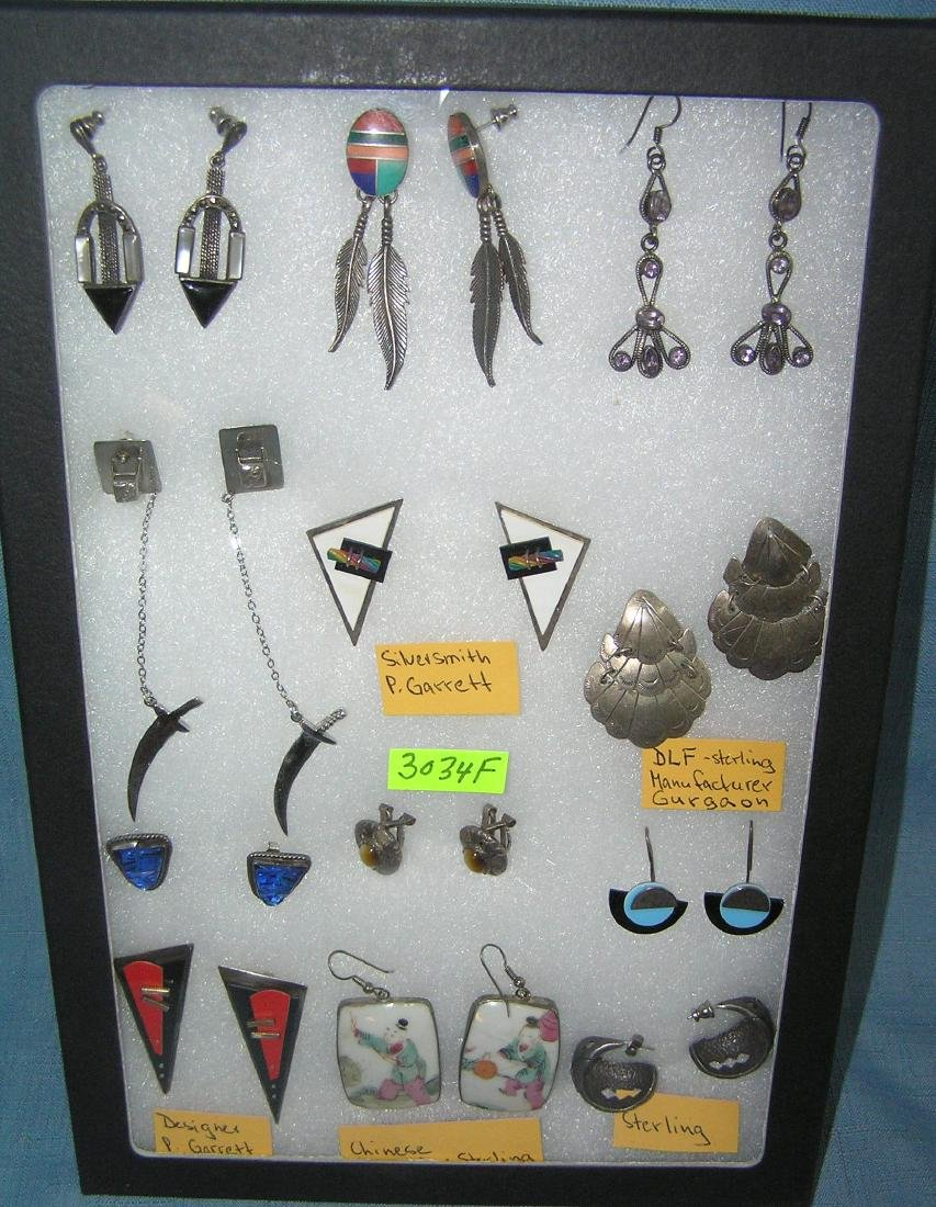 Collection of great earring sets mostly sterling silver