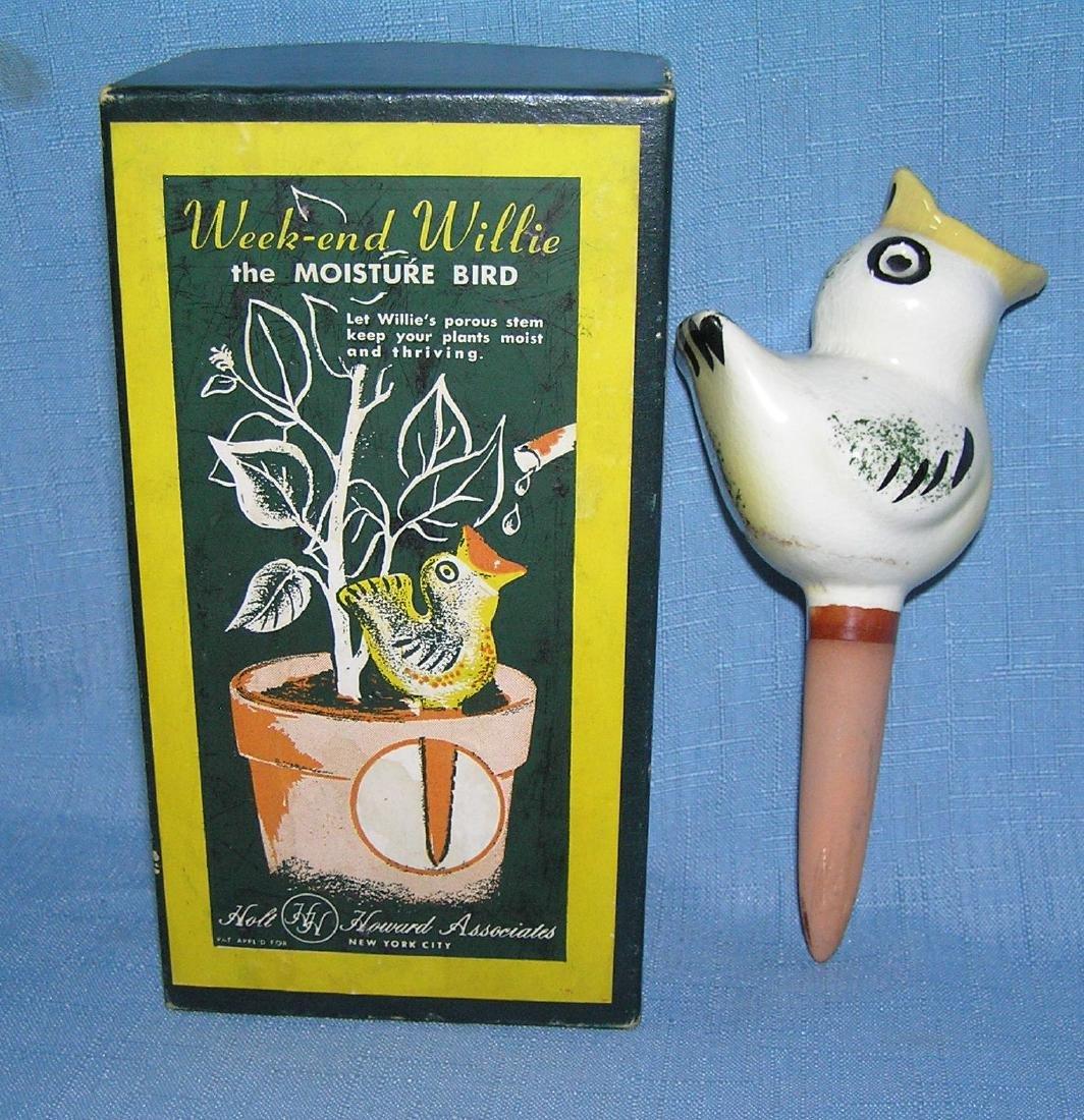 Weekend Willy porcelain watering moisture bird