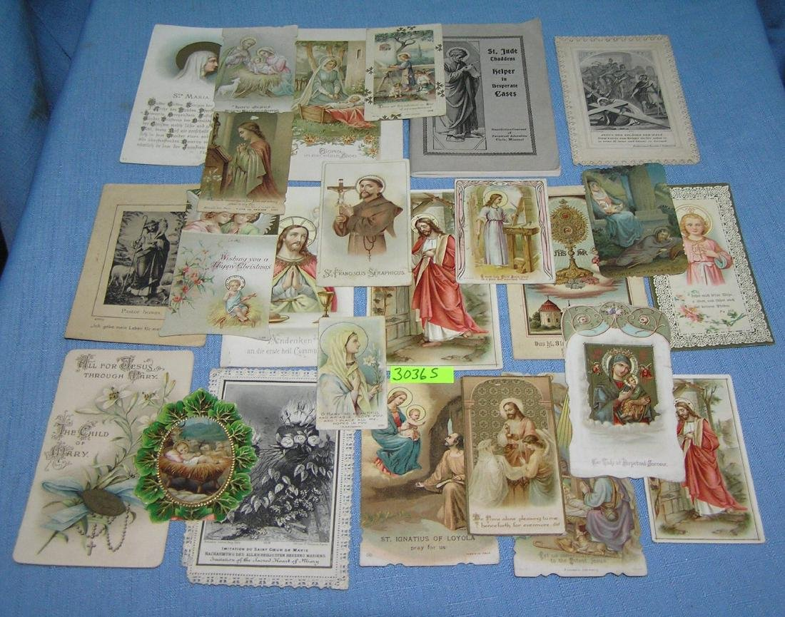 Group of early religious cards early 1900's