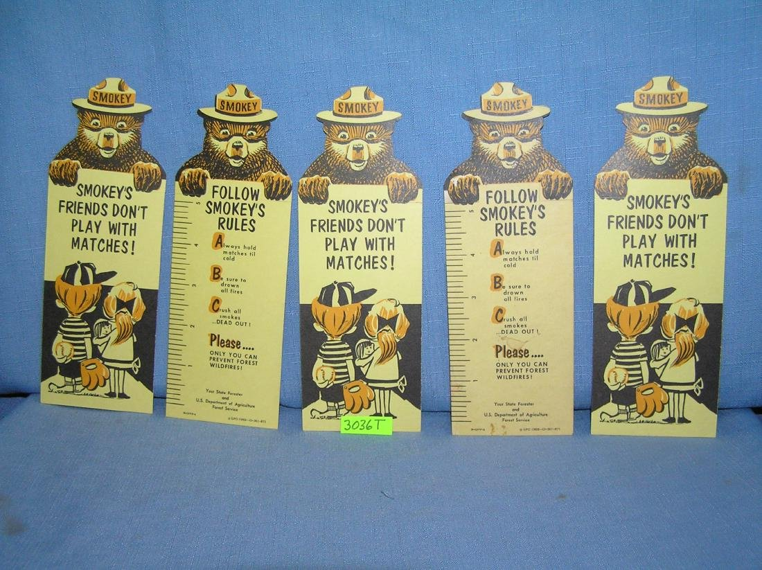 Smokey the Bear book mark style for safety cards