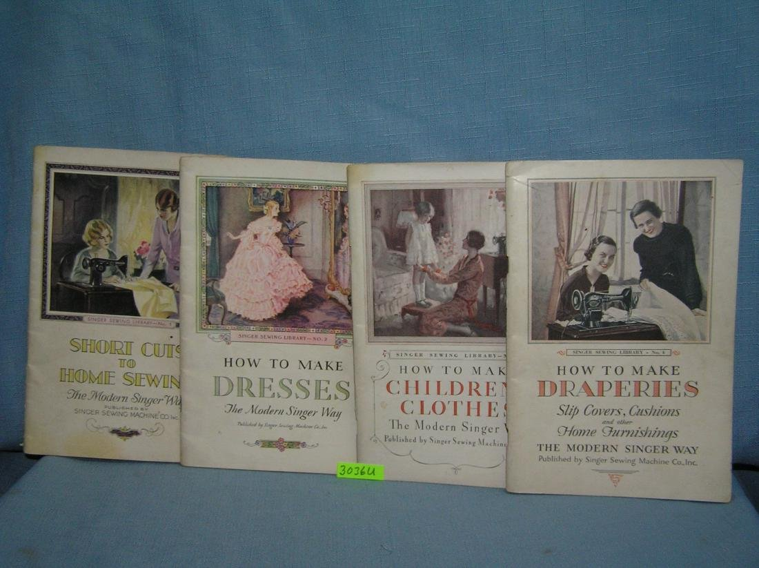 Singer sewing machine sewing booklets