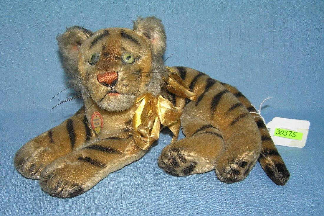 Early Steiff tiger with original tag