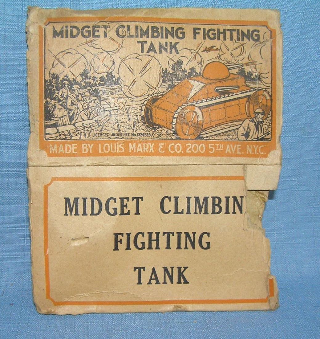 Early Louis Marx windup mechanical tank box