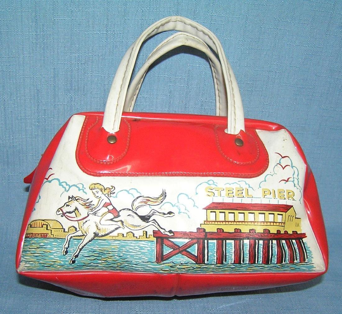 Vintage Atlantic City vinyl souvenir bag