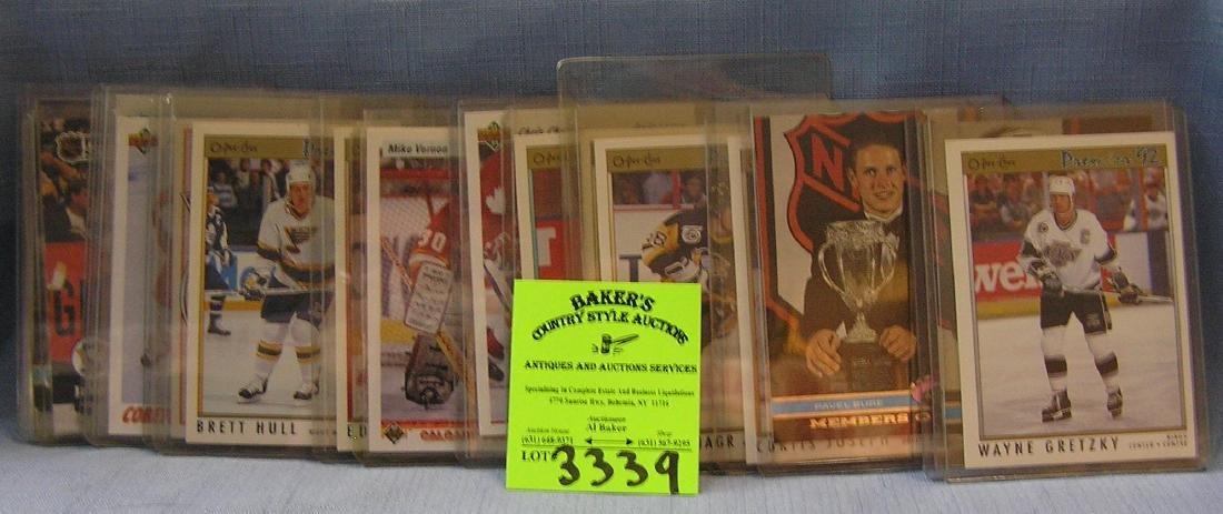 Vintage hockey cards including rookies
