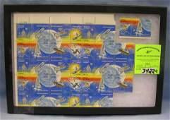 Vintage US space exploration postage stamps