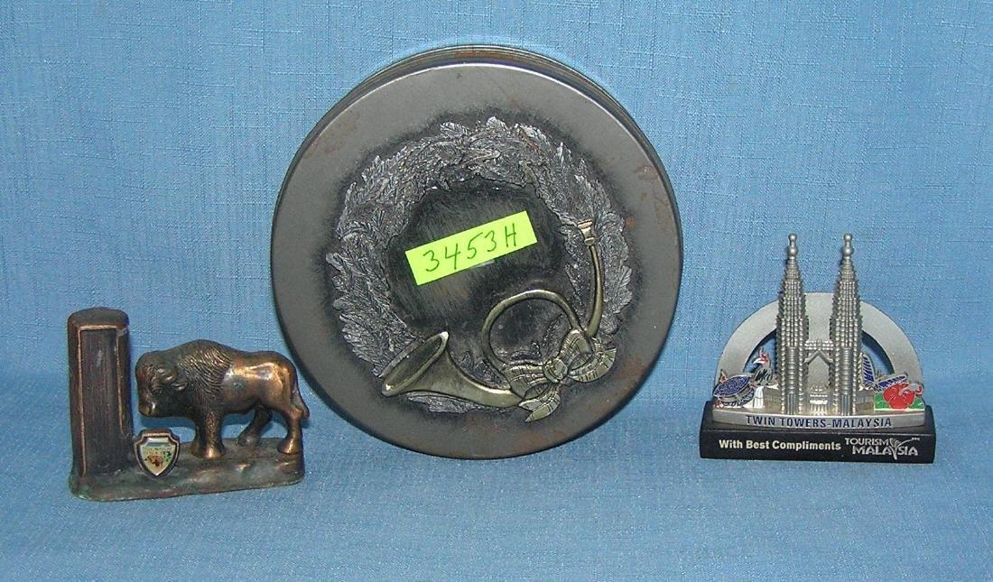 Group of cast metal souvenirs