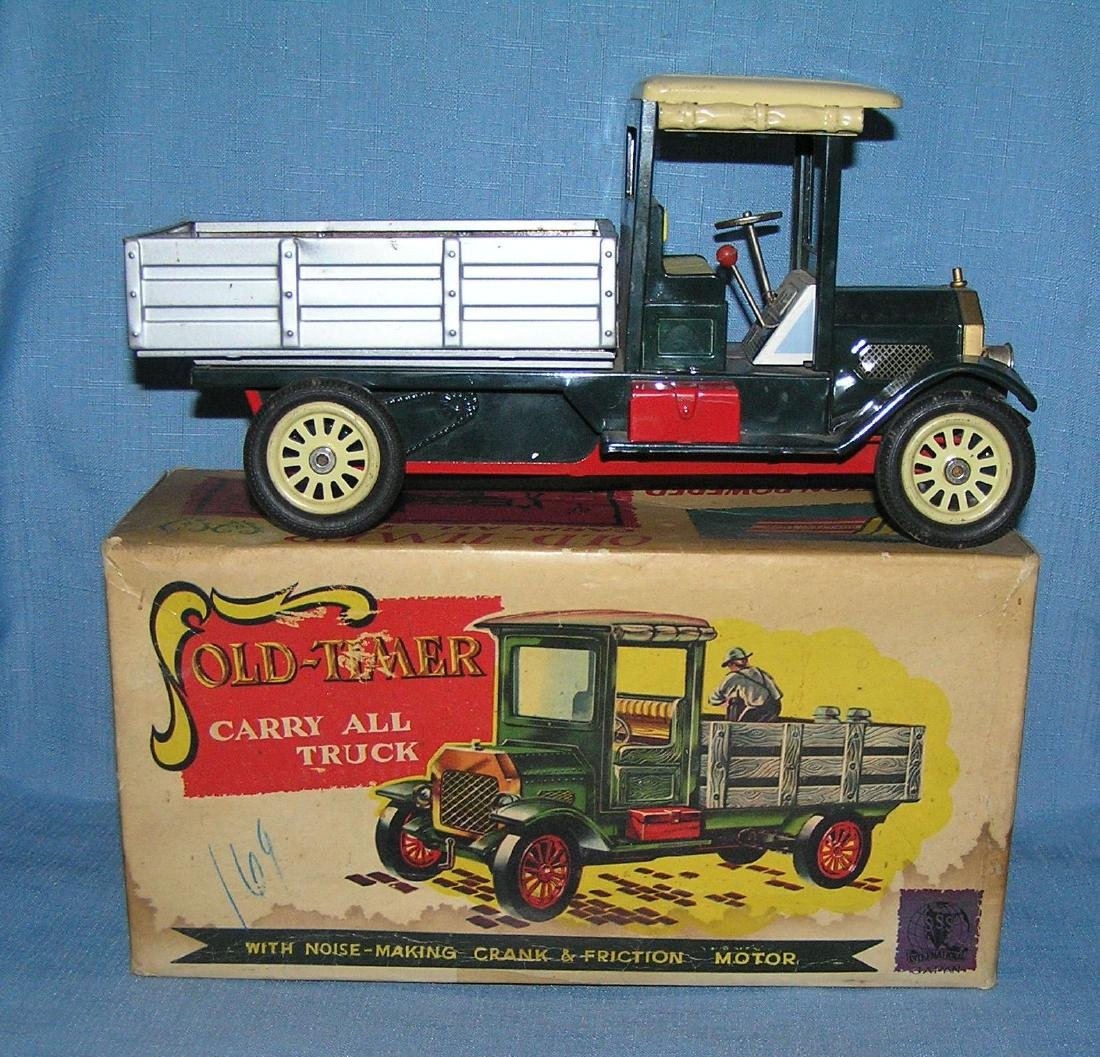 All tin friction Old Timer carryall truck