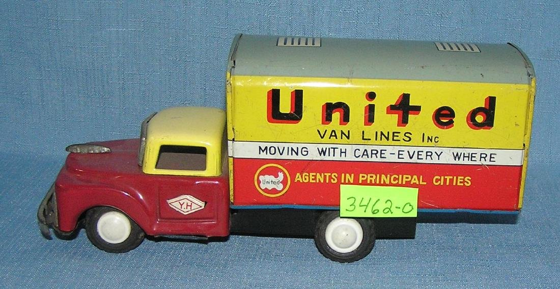 Early United Van Lines all tin delivery truck