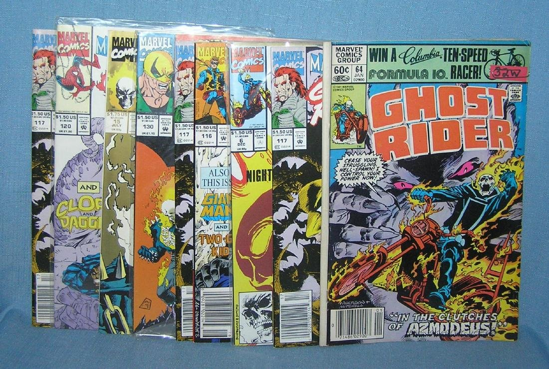 Group of vintage Marvel Ghost Rider comic books