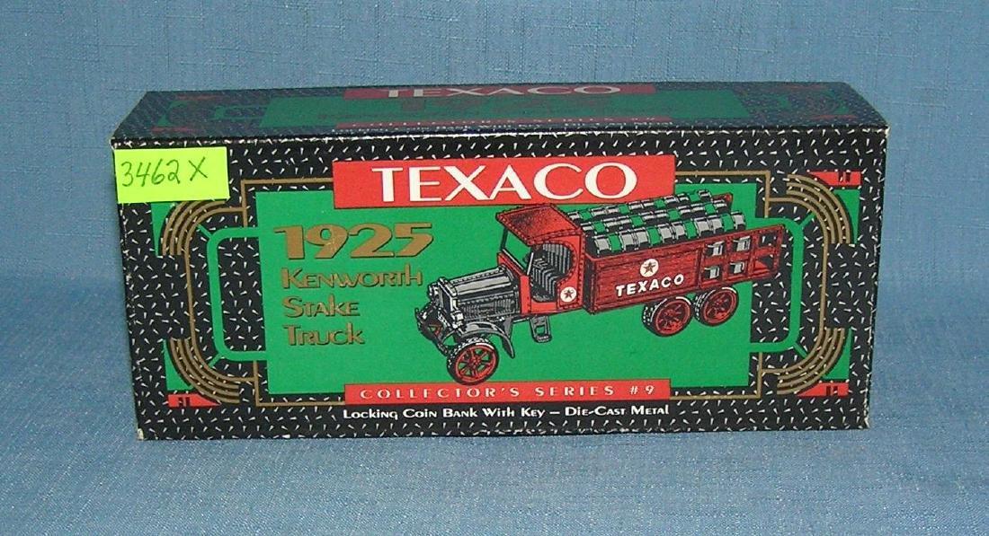 Texaco cast metal delivery truck bank