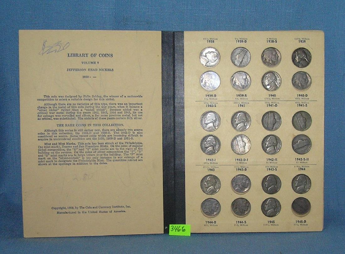 Collection of vintage US nickels