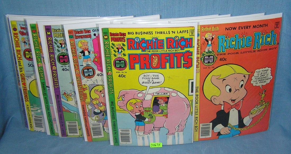 Collection of vintage Richie Rich comic books