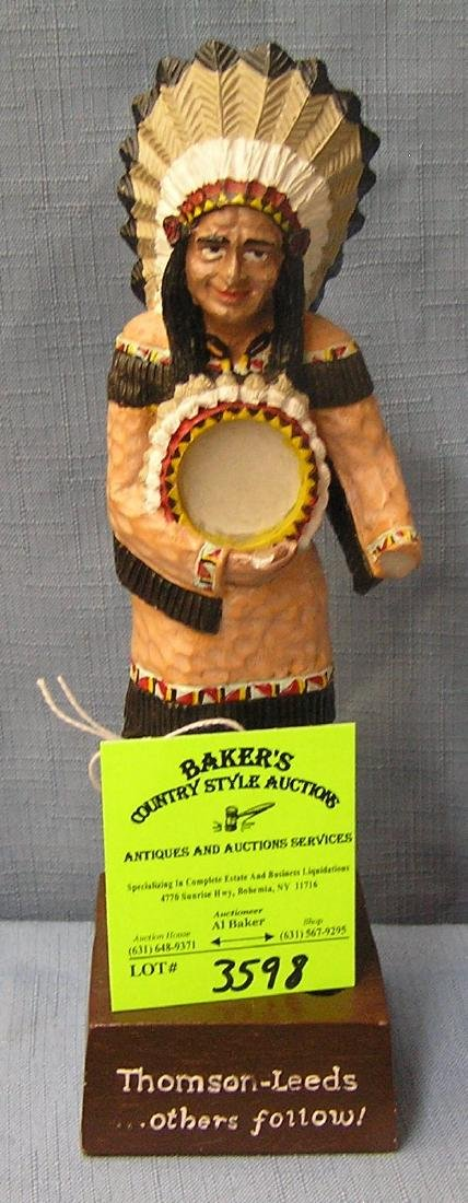 Vintage Thompson's painted Indian figure