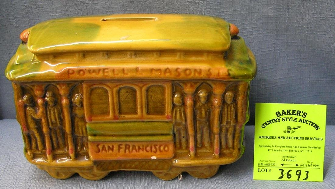 Vintage porcelain San Francisco trolley car