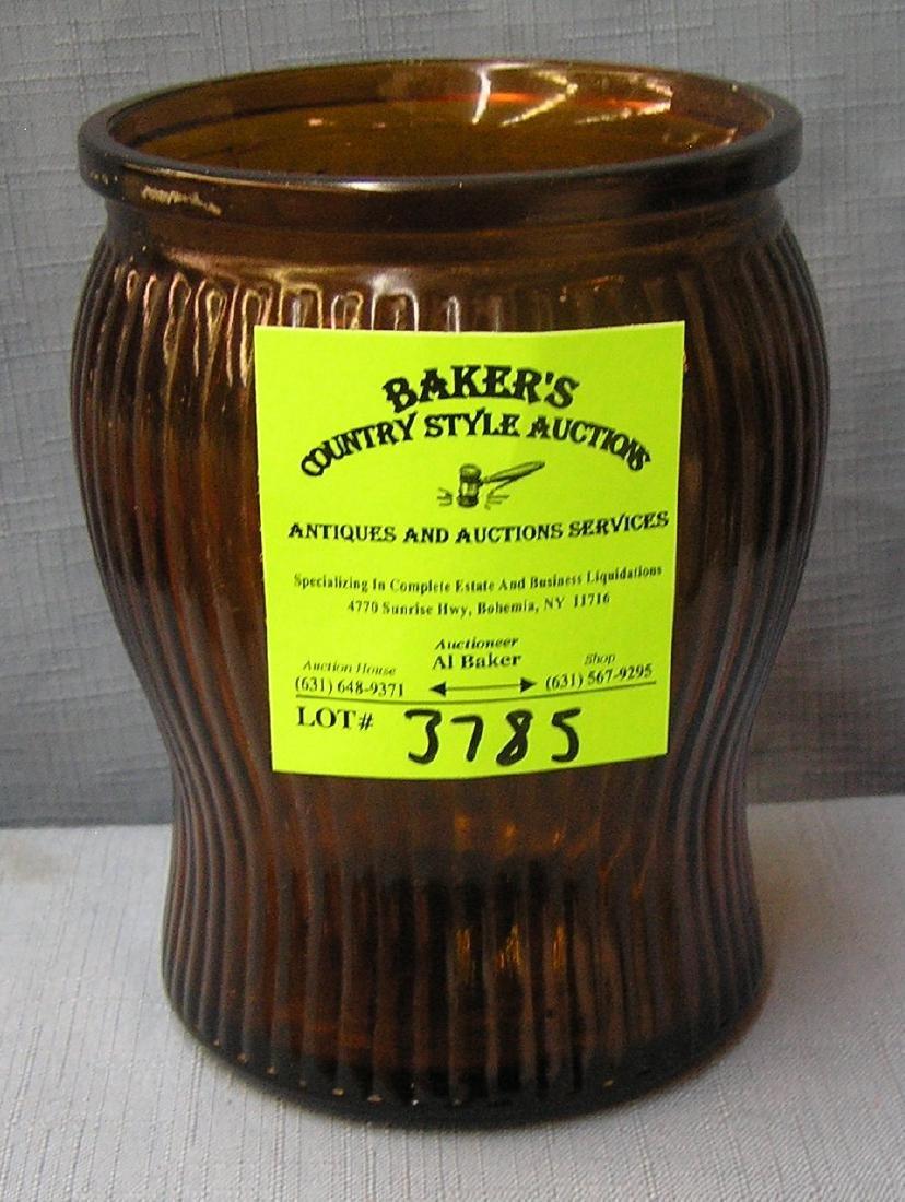 Vintage brown art glass storage jar