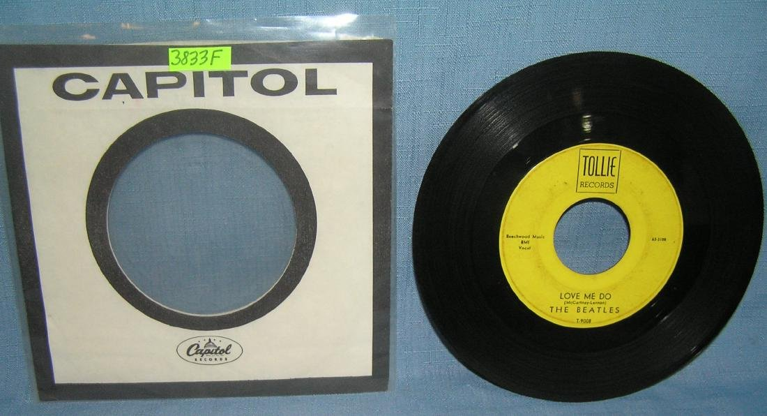 The Beatles Love Me Do and PS I love you 45 rpm record