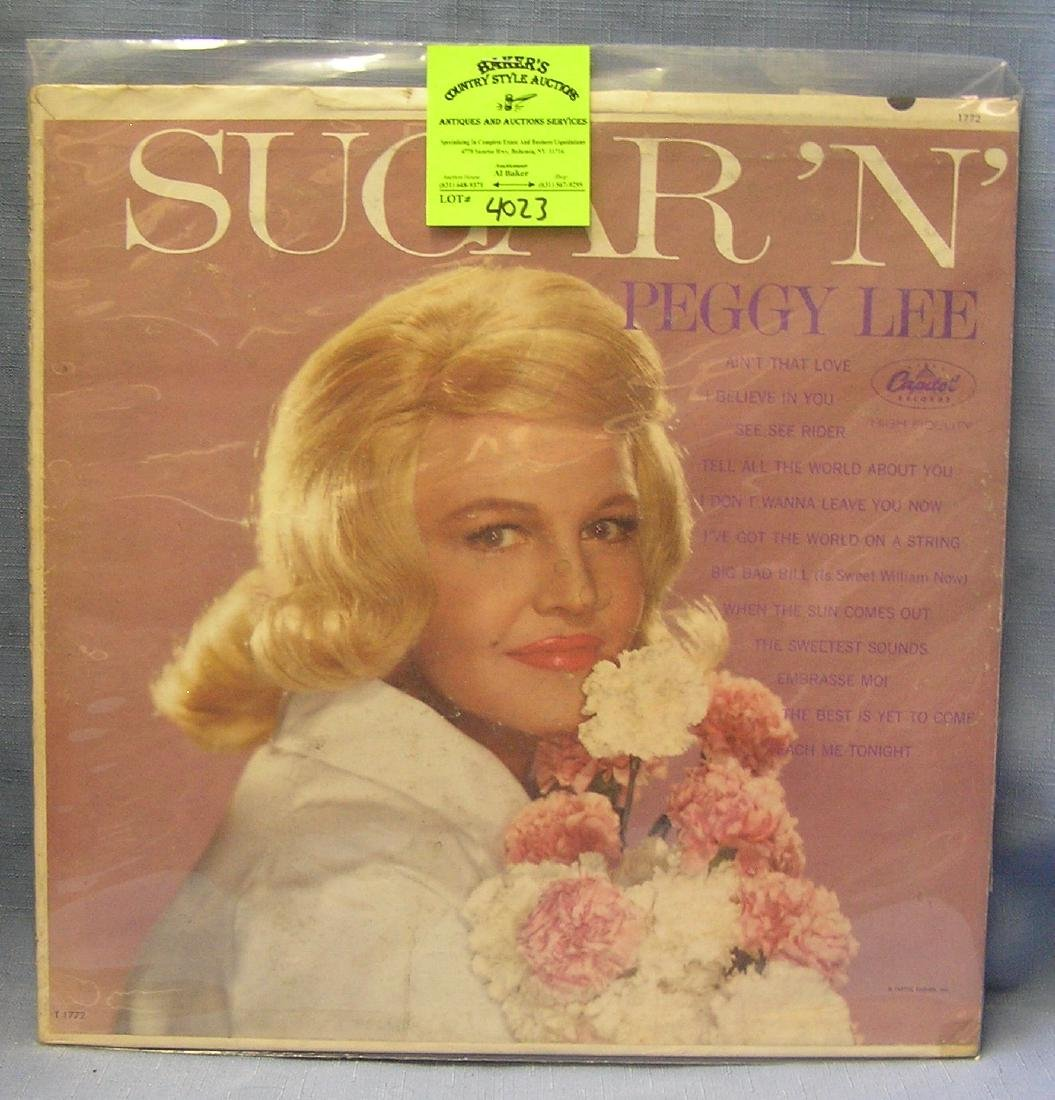 Vintage Peggy Lee record album