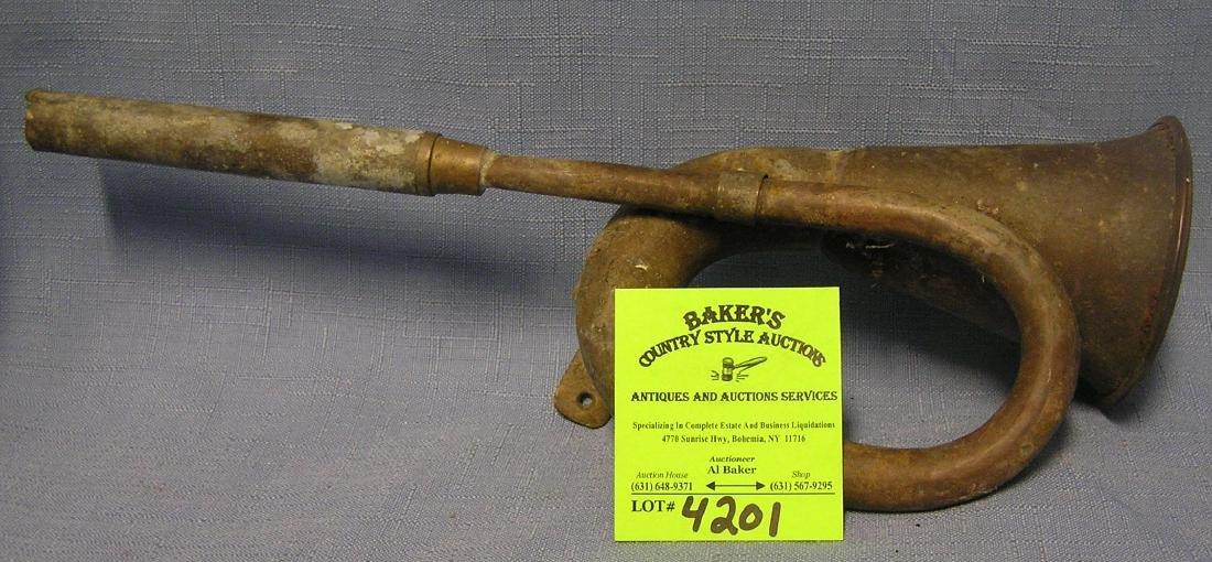 Antique brass horn