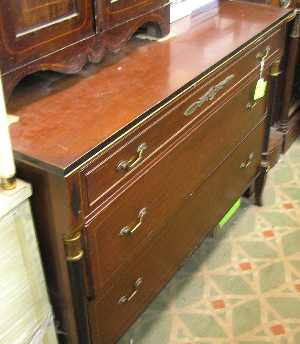 Antique cherry mahogany chest with mirror