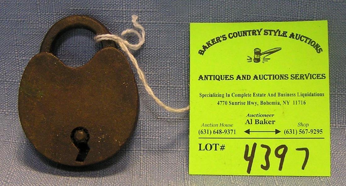 Antique solid brass padlock