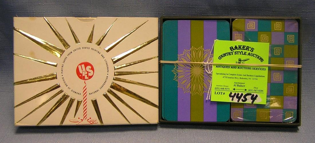 Two decks of vintage playing cards in original box