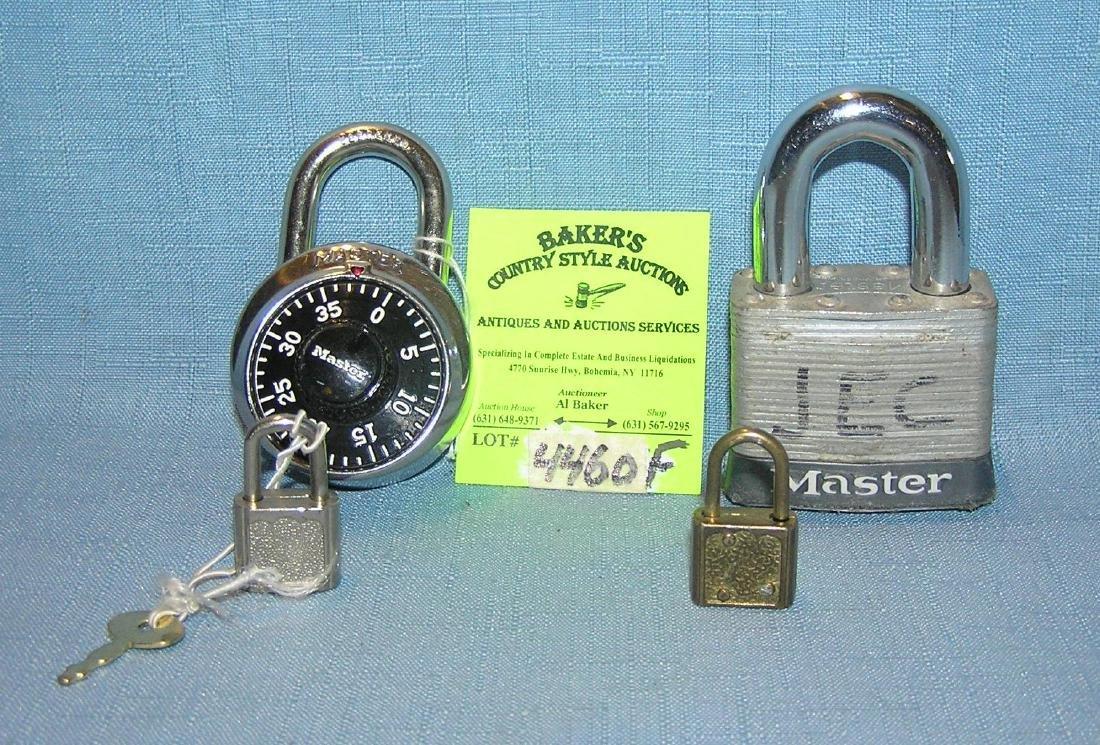 Group of 4 pad locks