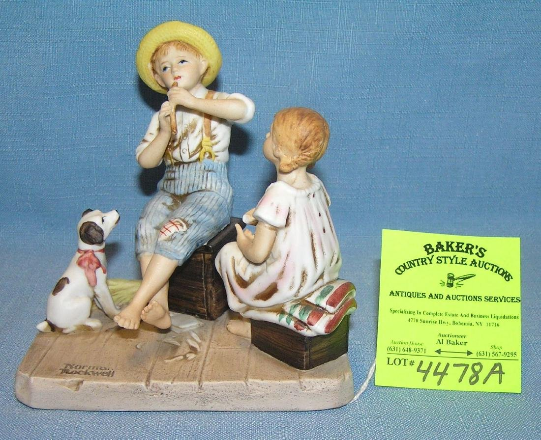 """Norman Rockwell figurine titled """"The Music Master"""""""