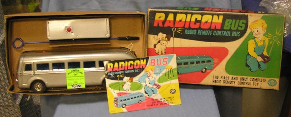 Vintage Radicon remote controlled toy bus w/ org. box