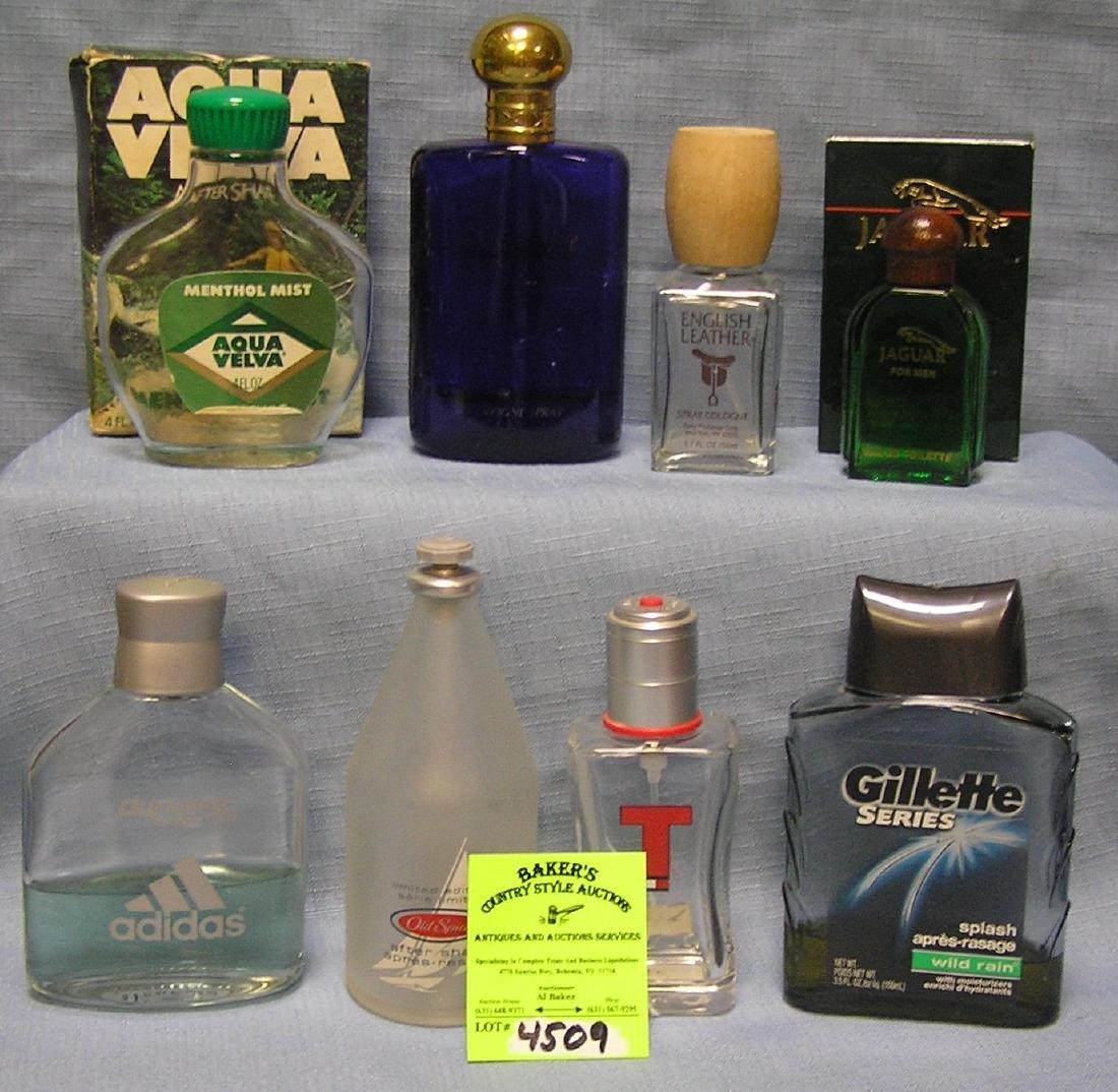 Group of vintage cologne bottles