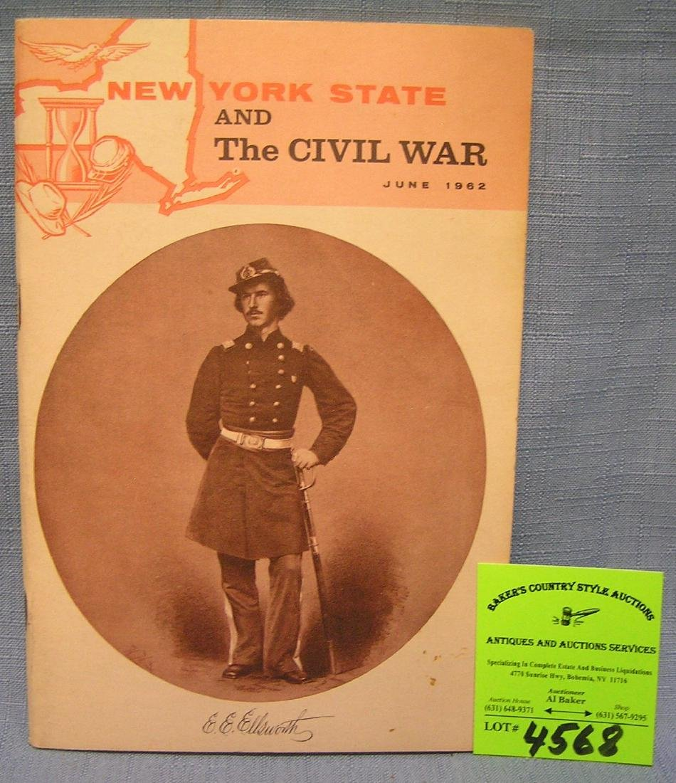 New York State and the Civil War illustrated booklet
