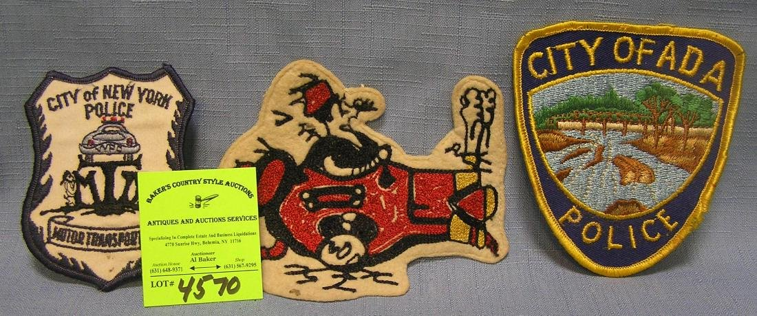 Group of three early patches
