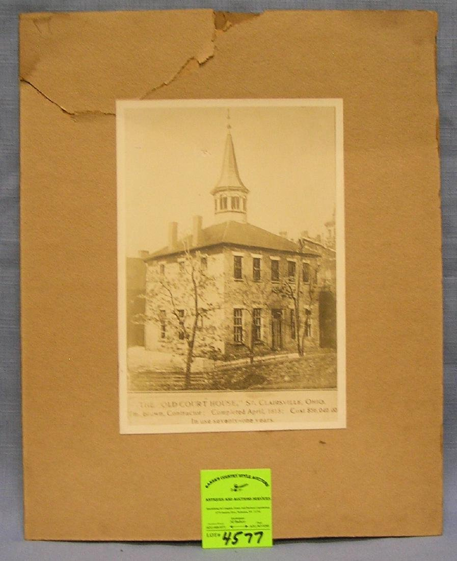 Antique photo of the old courthouse of Clairesville