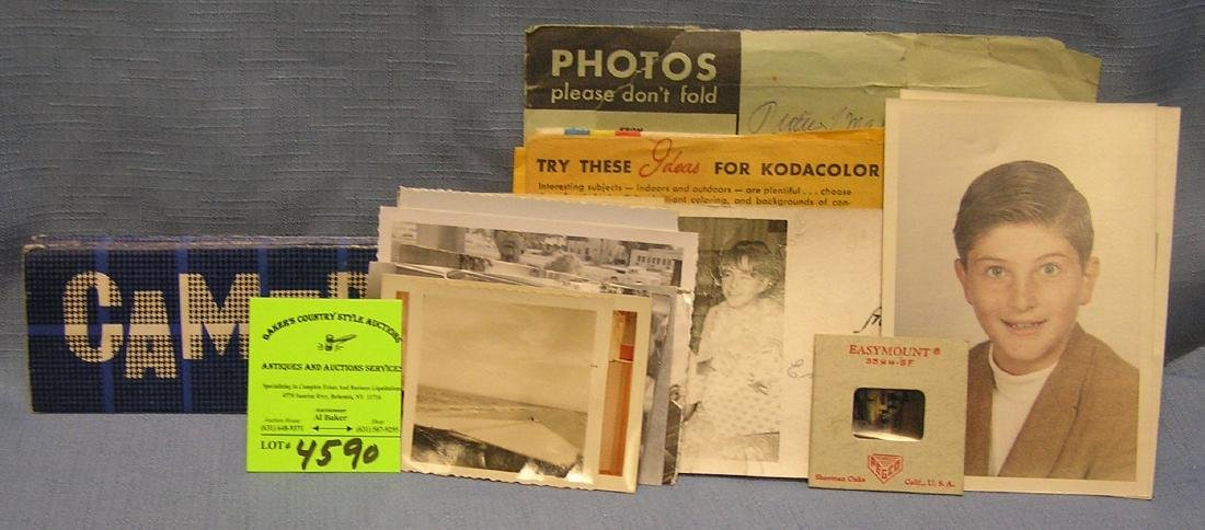 Collection of vintage photos and negatives