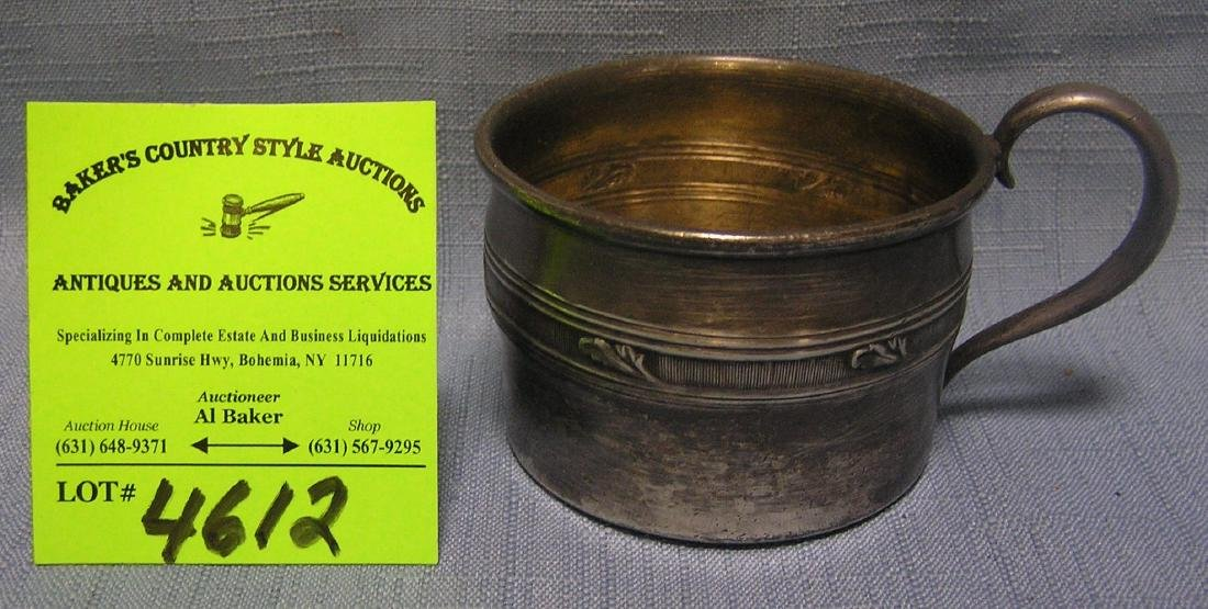 Antique silver plated child's cup